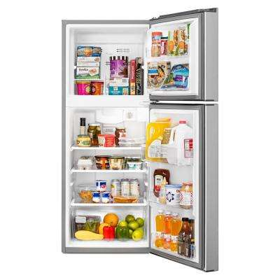 10.7 cu. ft. Top Freezer Refrigerator in Monochromatic Stainless Steel