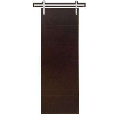 Modern Stained Hardwood Interior Barn Door Slab with Sliding Door Hardware