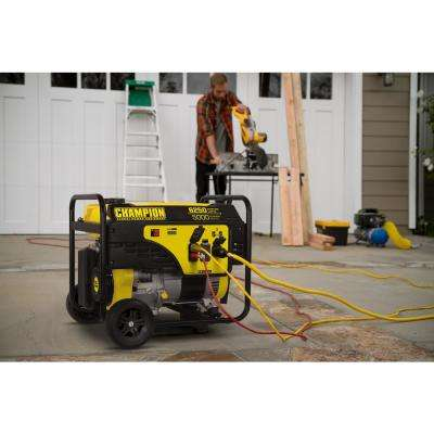 5000-Watt Gasoline Powered Recoil Start Portable Generator with Champion 292 cc Engine