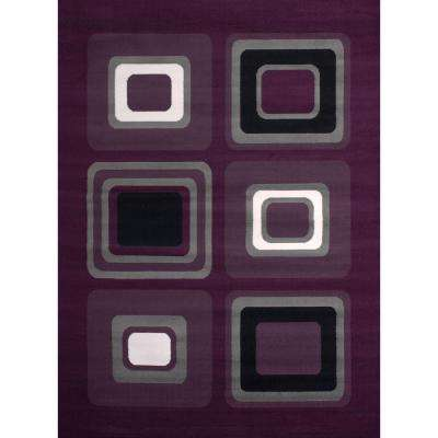 Spaces Lilac 5 ft. 3 in. x 7 ft. 2 in. Indoor Area Rug