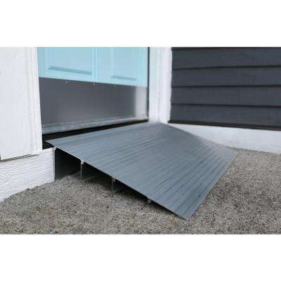 TRANSITIONS Aluminum Threshold Ramp 17 in. L x 34 in. W x 3 in. H