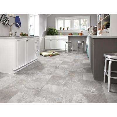 Travertine Grey 12 ft. Wide Residential Vinyl Sheet