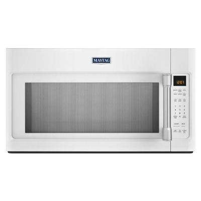 2.0 cu. ft. Over the Range Microwave in White with Stainless Steel Handle with Sensor Cooking