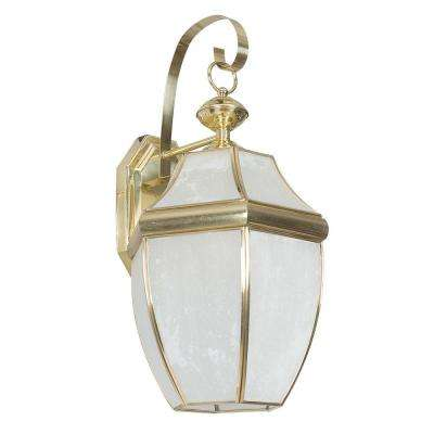 Fergerson 1-Light Polished Brass Outdoor Wall Lantern