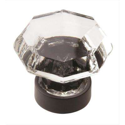 Traditional Classics 1-5/16 in. (33 mm) Diameter Clear Black Bronze Cabinet Knob