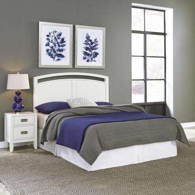 Newport 2 Piece White Queen Bedroom Set