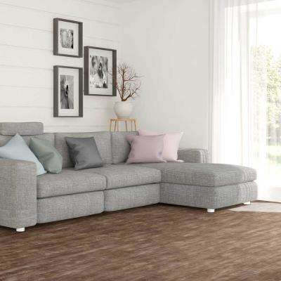 Stony Oak Smoke 8 in. Wide x 48 in. Length Click Floating luxury vinyl plank flooring (18.22 sq. ft./case)