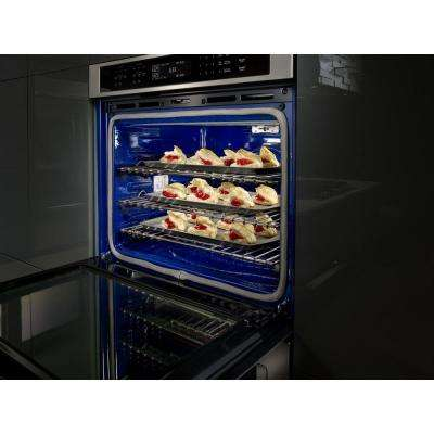 27 in. Double Electric Wall Oven Self-Cleaning with Convection in White