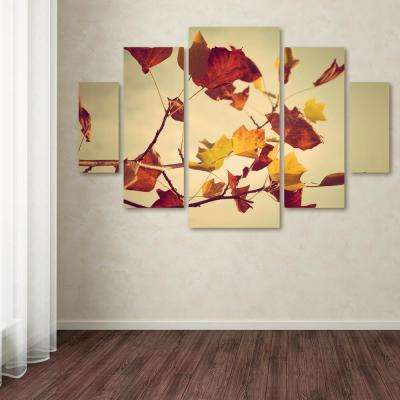 "40 in. x 58 in. ""Still Fall"" by Philippe Sainte-Laudy Printed Canvas Wall Art"