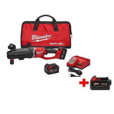 M18 FUEL 18-Volt Lithium-Ion Brushless 1/2 in. Super Hawg Right Angle Drill Kit (Quick-Lok) w/ Free M18 5.0Ah XC Battery