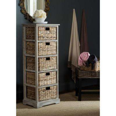 Vedette 46.1 in. H x 17.3 in. W 5-Drawer Chest in Winter Melody