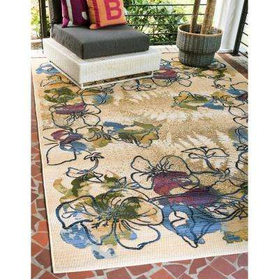 Outdoor Pansy Ivory 8' 0 x 11' 4 Area Rug