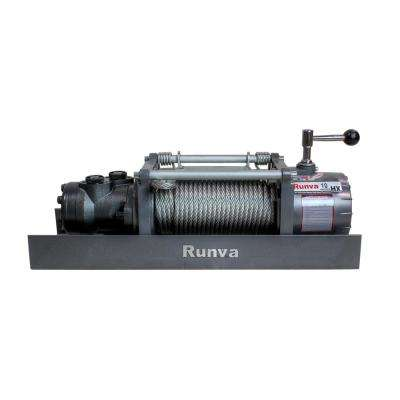 Runva Series 10,000 lbs. Capacity Hydraulic Towing Recovery Winch with 40 ft. Synthetic Cable