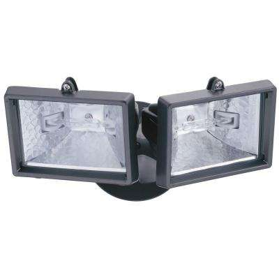 2-Lamp Bronze Outdoor Flood Light