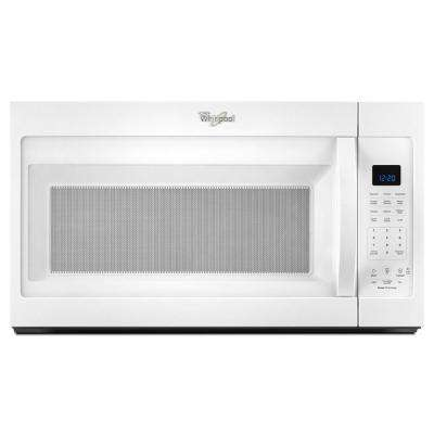 30 in. W 1.9 cu. ft. Over the Range Microwave Hood in White