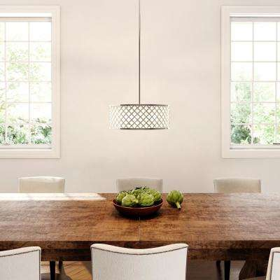 3-Light Chrome Convertible Semi-Flushmount/Pendant with Frosted Crystal Shade