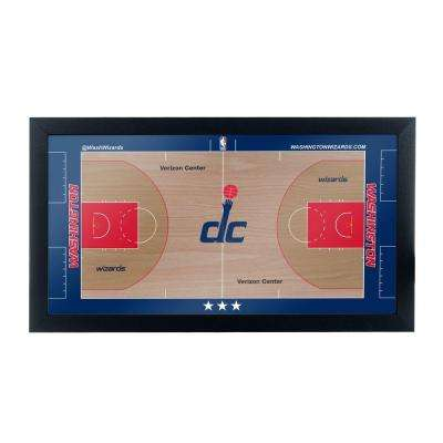 Washington Wizards Official NBA Court 15 in. x 26 in. Black Framed Plaque