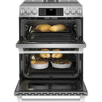 6.7 cu. ft. Slide-In Double Oven Electric Range with Self-Cleaning Convection Oven in Stainless Steel