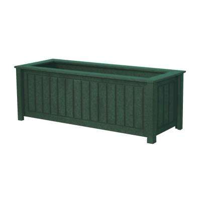 North Hampton 34 in. x 12 in. Green Recycled Plastic Commercial Grade Planter Box
