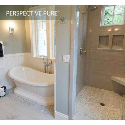 Perspective Pure Gray 5.91 in. x 5.91 in. Porcelain Floor and Wall Tile (4.84 sq. ft. / case)