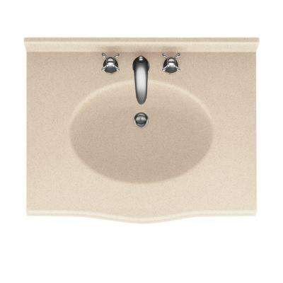 Europa 31 in. W x 22-1/2 in. D x 11-3/8 in. H Solid-Surface Vanity Top with Basin in Bermuda Sand
