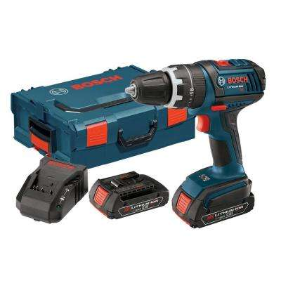 18-Volt Lithium-Ion 1/2 in. Cordless Standard Duty Hammer Drill and Driver Kit with L-BOXX2