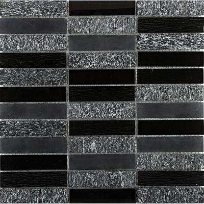 Illumina Shimmer Glossy 11.73 in. x 11.73 in. x 8mm Glass Mesh-Mounted Mosaic Tile (0.96 sq. ft.)