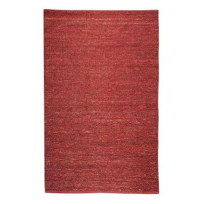 Global Red 5 ft. x 8 ft. Area Rug