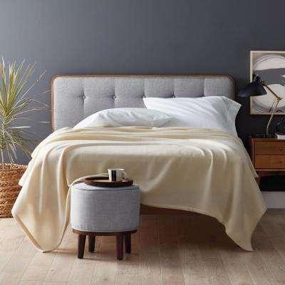 Lambswool Solid Woven Blanket
