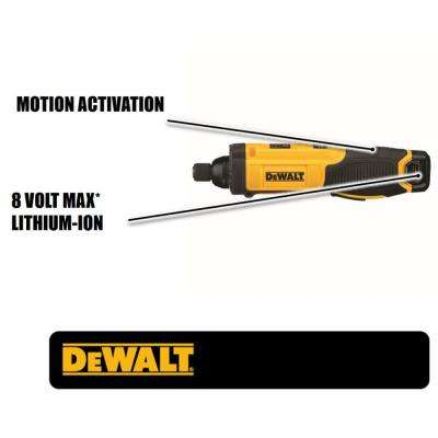 8-Volt MAX Lithium-Ion 1/4 in. Hex Cordless Gyroscopic Screwdriver with Battery 1Ah, 1-Hour Charger