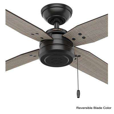 Commerce 44 in. Indoor/Outdoor Matte Black Ceiling Fan