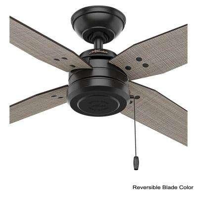 Commerce 44 in. Indoor/Outdoor Matte Black Ceiling Fan