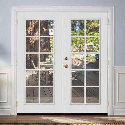 Prehung 10 Lite Steel Patio Door with No Brickmold