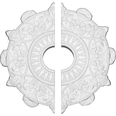 17-1/2 in. O.D. x 4 in. I.D. x 1 in. P Preston Ceiling Medallion (2-Piece)