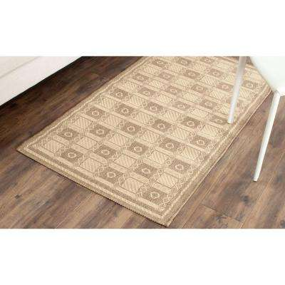 Grand Parquet Cream/Brown 8 ft. x 11 ft. Area Rug