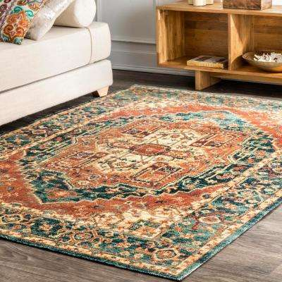 Roselin Transitional Orange 5 ft. x 8 ft.  Area Rug