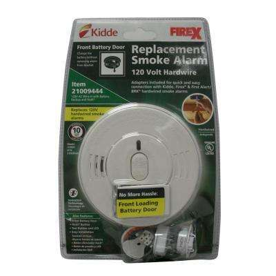 Fire X Hardwire Smoke Detector with 9V Battery Backup, Adapters, Ionization Sensor, and 1-button test/hush  (4-Pack)