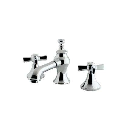 Modern Cross 8 in. Widespread 2-Handle Mid-Arc Bathroom Faucet in Chrome