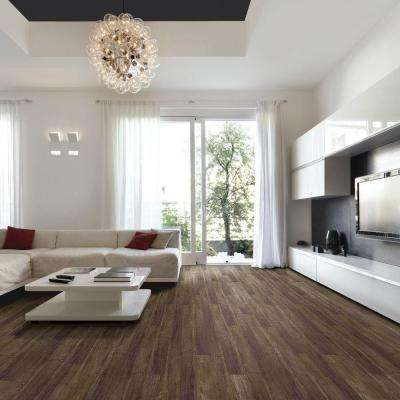 Wire Brushed Hickory Smoketree 3/8 in. T x 5 in. W x 47-1/4 in. L Click Lock Hardwood Flooring (19.686 sq. ft. / case)