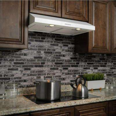 30 in. Kitchen Under Cabinet Range Hood in White