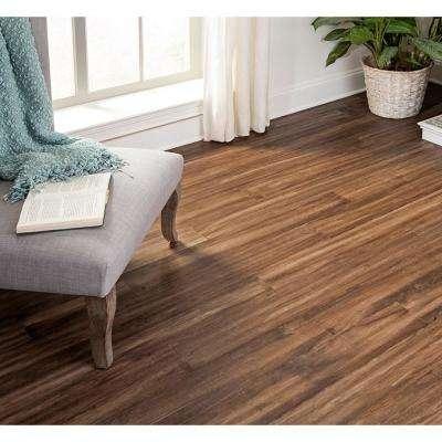 Take Home Sample - Sourdough Engineered Rigid Core Hardwood Flooring - 5.12 in. Wide x 6 in. Length