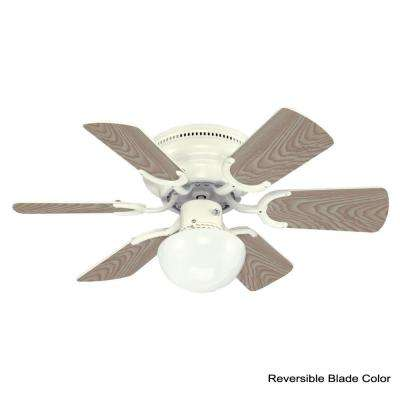 Petite 30 in. White Ceiling Fan