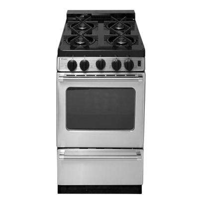 ProSeries 20 in. 2.42 cu. ft. Freestanding Gas Range with Sealed Burners in Stainless Steel