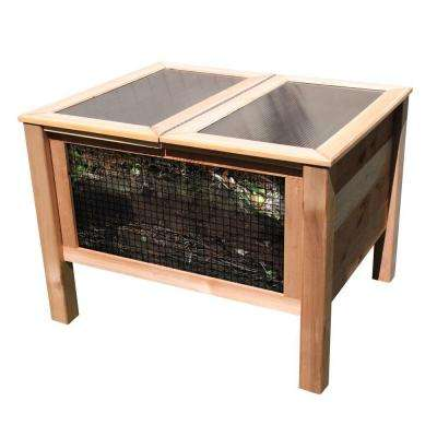 36 in. x 45 in. x 32 in. Solar Assist Composter