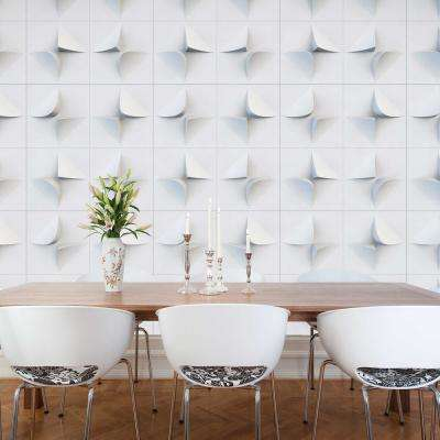 V2 White Geometric Strippable Wallpaper