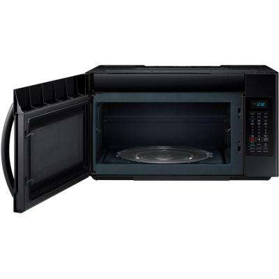 30 in. W 1.8 cu. ft. Over the Range Microwave in Black with Sensor Cooking