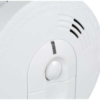 Hardwire Smoke Detector with 9V Battery Backup, Ionization Sensor, and 2-button test/hush  (2-pack)