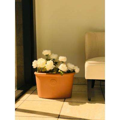 Large 15 in. Tall Terracota Lightweight Concrete Classic Ellipse Planter