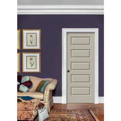 30 in. x 80 in. Rockport Desert Sand Painted Right-Hand Smooth Molded Composite MDF Single Prehung Interior Door