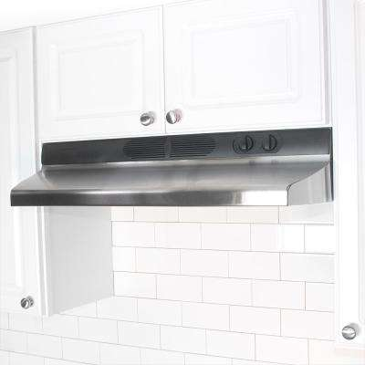 Quiet Zone 36 in. Under Cabinet Convertible Range Hood with Light in Stainless Steel